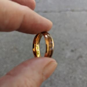 Jewelry - KOA Wood Ring Rose Gold over Stainless Steel sz 7